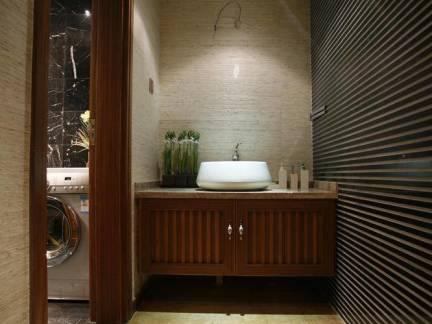 东南亚别墅卫生间浴室柜图片欣赏