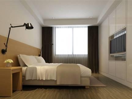 普通家庭卧室连体衣柜装修设计