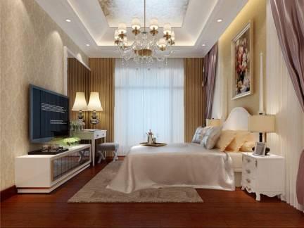 简欧风格卧室室内吊顶装修设计