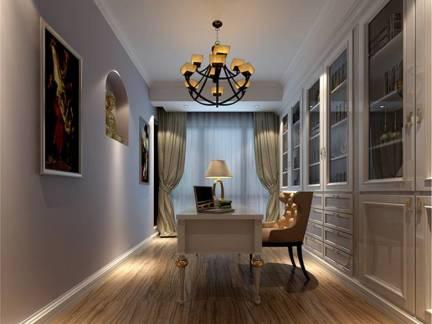 现代欧式风格四居室书房书桌美图欣赏