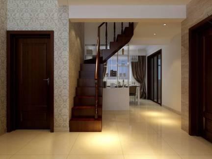 温馨现代风格楼梯过道吊顶效果图