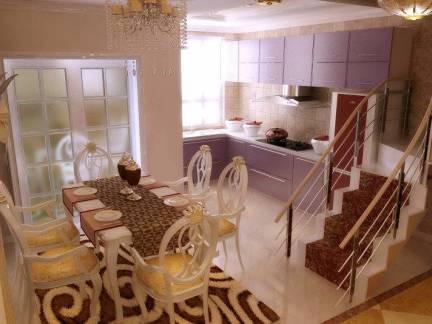欧式风格复式楼餐厅室内装修效果图