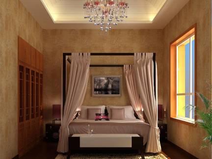 现代日式混搭卧室吊顶装修图