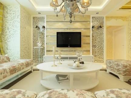 时尚欧式客厅电视背景墙装修设计