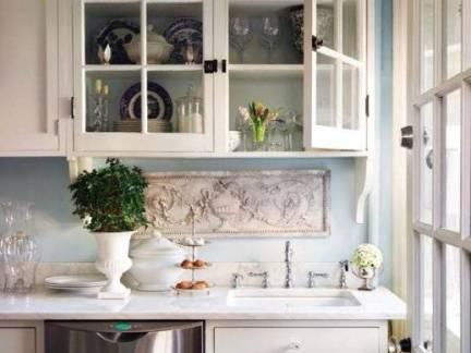 欧式风格三室两厅厨房橱柜装修设计