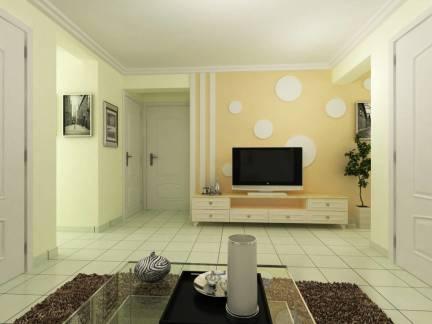 简约风格小户型客厅电视背景墙装修效果图
