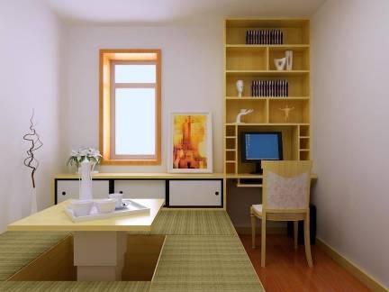 唯美现代风格三居室卧室榻榻米设计方案