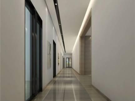 现代大型公寓过道吊顶效果图欣赏