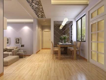 简约风格五居室餐厅背景墙装修效果图