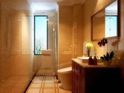三居室家庭卫生间米色墙砖精装设计