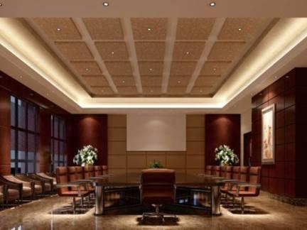 现代风格会议室吊顶设计效果图