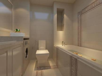 简约风格小户型卫生间浴缸设计图片