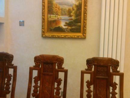 中式风格别墅餐厅雕花实木餐椅装修设计