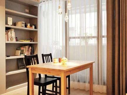 东南亚别墅书房窗帘装修设计