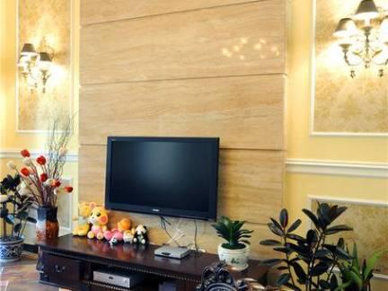 欧式风格实木电视背景墙图片大全
