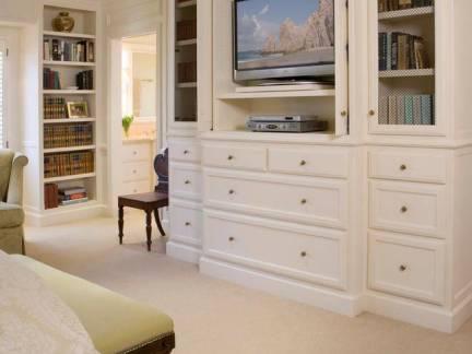 美式风格别墅卧室电视柜装修设计