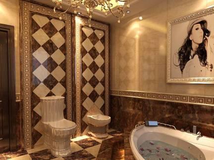 奢华欧式卫生间墙面瓷砖图片欣赏
