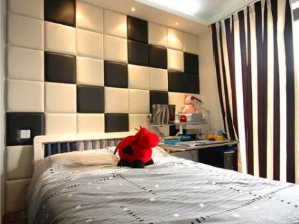 小户型现代简约风格卧室背景墙装修设计