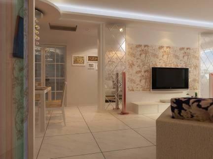 田园风格别墅客厅电视背景墙装修设计