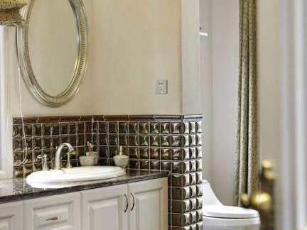 奢华欧式卫生间浴室柜装修设计