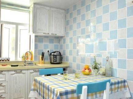 简约时尚地中海小户型餐厅厨房设计效果图
