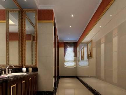 大气欧式风格卫生间照片墙设计案例图