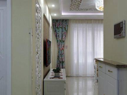 现代简约田园风客厅进门玄关柜设计图
