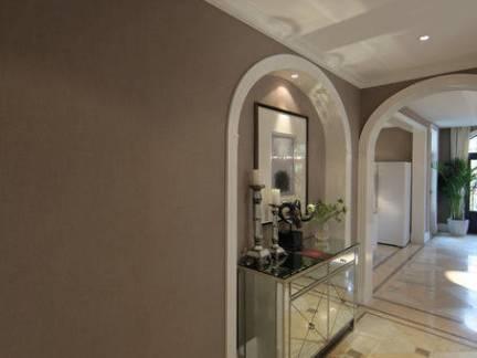 大型美式公寓过道玄关柜装修设计