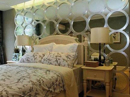 创意混搭美式韩式简欧风格卧室背景墙效果图
