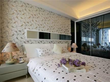 120平米三室一厅卧室壁纸装修设计