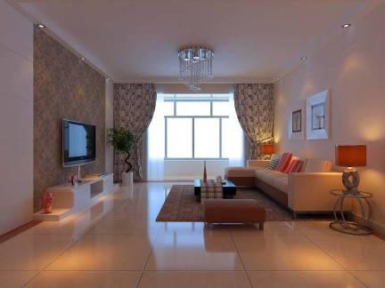 四居室简约风格客厅电视背景墙装修设计