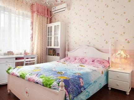 现代柔和色彩儿童房床头柜图片欣赏