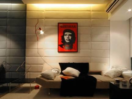 现代风格小户型卧室背景墙装修设计