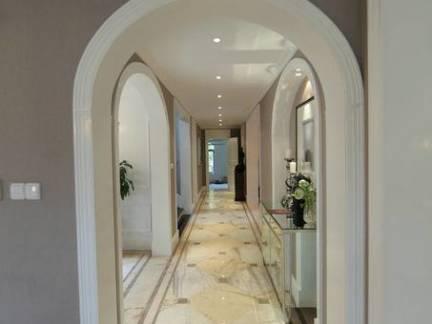美式风格公寓弧形门洞门套装修设计