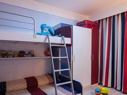 美式风格五居室儿童房上下床装修设计