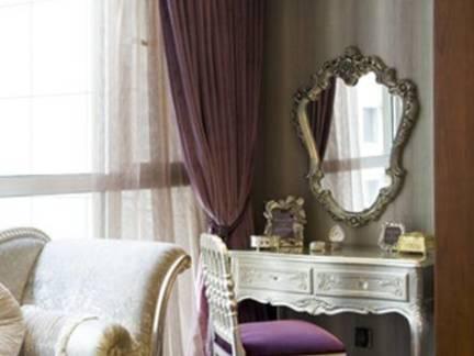 淡紫柔情欧式卧室窗帘设计图欣赏