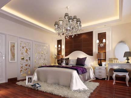 豪华典雅简欧风格卧室梳妆台设计图