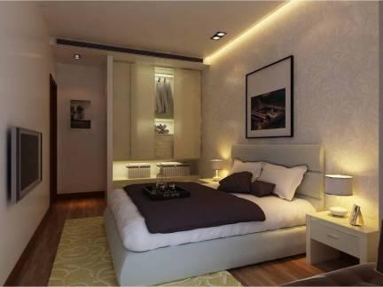 舒适简欧小户型卧室衣柜装修设计图