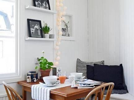 小户型一居室现代简约风餐厅餐桌设计效果图