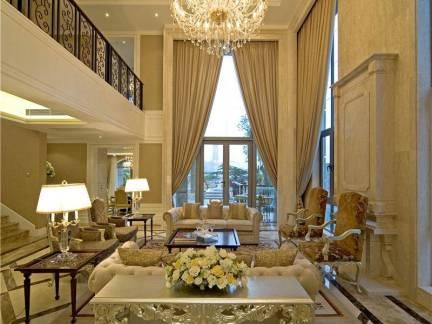 奢华欧式别墅客厅吊灯效果图欣赏