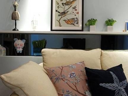 地中海二居室客厅沙发装修设计