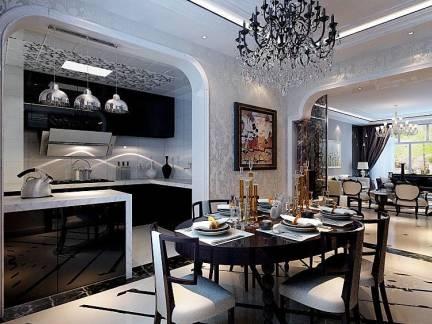 新古典别墅餐厅餐边柜效果图欣赏