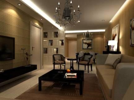 时尚现代客厅吊顶电视背景墙设计图