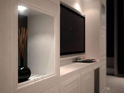 大型公寓客厅电视组合柜图片欣赏