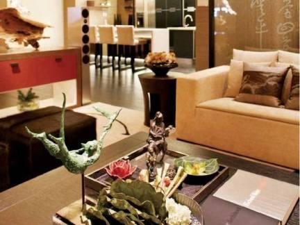 中式风格别墅客厅茶几摆件装饰图片欣赏