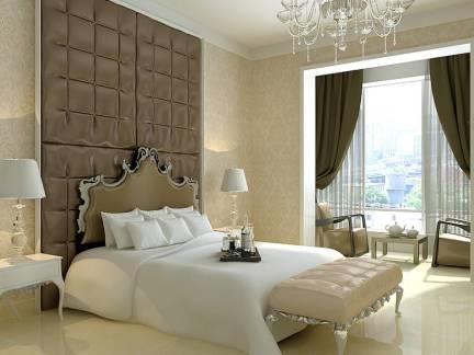柔情欧式风格三居室卧室阳台设计特效
