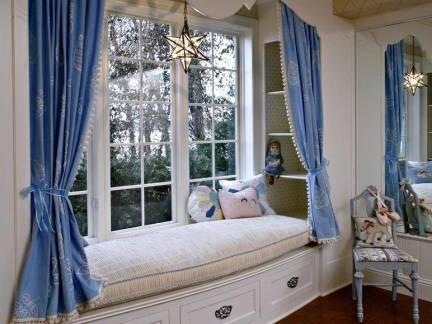 北欧风格别墅卧室榻榻米飘窗装修设计