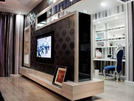 北欧风格小户型客厅电视背景墙装修设计