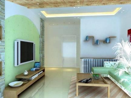 地中海风格小型客厅电视墙装修设计