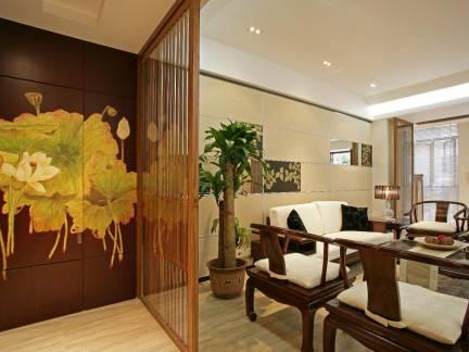 中式古典风格客厅实木家具图片欣赏
